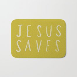 Jesus Saves x Mustard Bath Mat