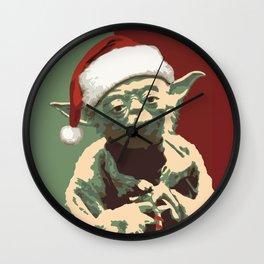 Holiday Yoda Wall Clock