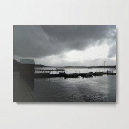 Whalewatching town Metal Print