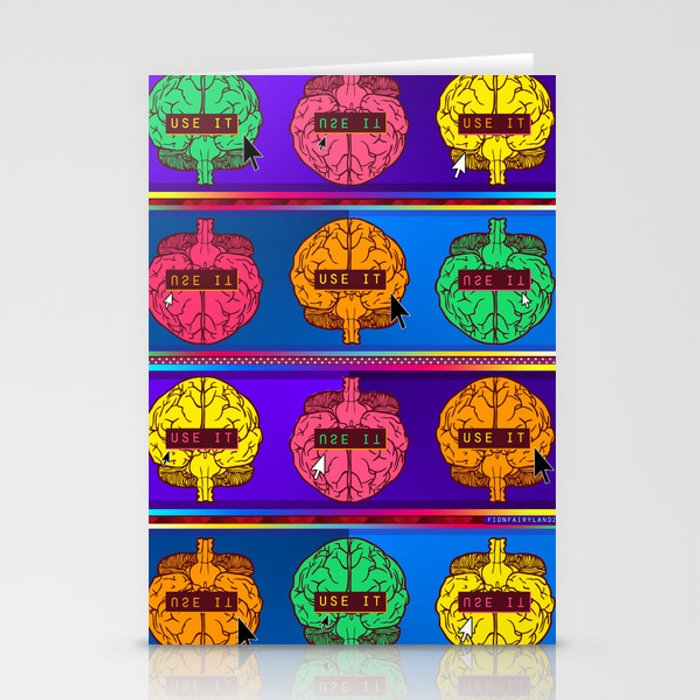 Use Your Brain! Stationery Cards