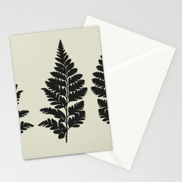 fern in gray Stationery Cards