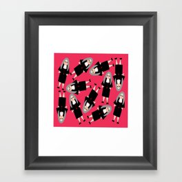 Nuns Wearing Habits Framed Art Print