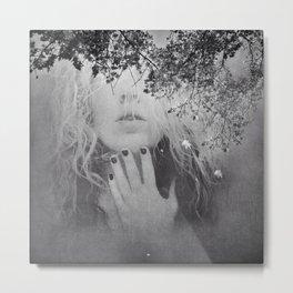 Soul - surreal dreamy portrait, woman nature photo, spiritual portrait Metal Print
