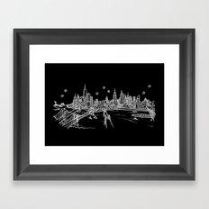 New York, New York City Skyline Framed Art Print