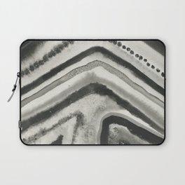 Black Agate Slice Laptop Sleeve