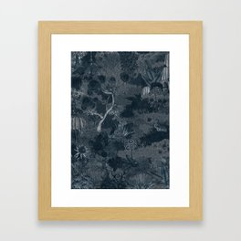 Treasure Chambers at Night Framed Art Print