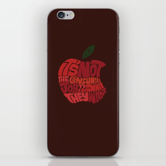 Steve Jobs on Consumers iPhone & iPod Skin
