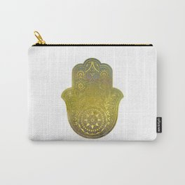 Colorful Watercolor And Gold Hamsa Hand - II Carry-All Pouch
