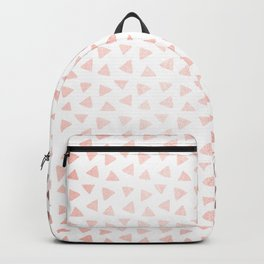 Rose Gold Triangle Checkers Backpack