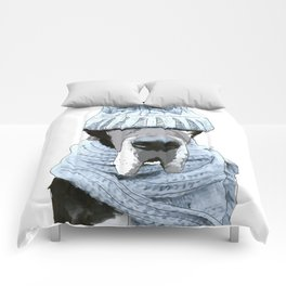 Great Dane Winter is Here Comforters