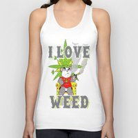 cannabis Tank Tops featuring Timothy The Cannabis Bear  by Timmy Ghee CBP/BMC Images  copy written
