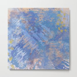 Blue Action Abstract Metal Print