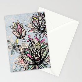 Paper Flowers #4 Stationery Cards