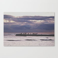 Surfers- Oahu-Honolulu Canvas Print
