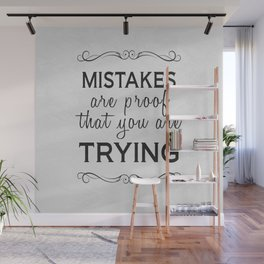 Mistakes Wall Mural