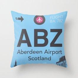 ABZ airport Throw Pillow