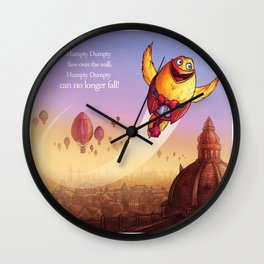 """""""Humpty Dumpty"""" Page Sample 2 (Mother Goose Retold-Trumble Book) Wall Clock"""