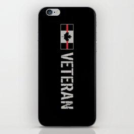 Canadian Firefighter Veteran iPhone Skin