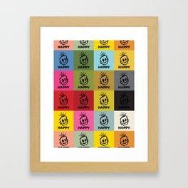 HAPPY SQUARES Framed Art Print
