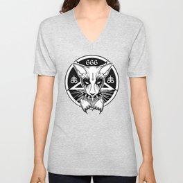 Black Metal Cat Unisex V-Neck