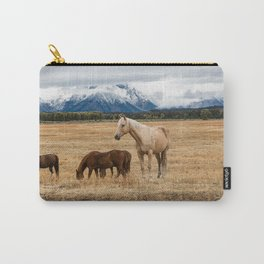 Mountain Horse - Western Style in the Grand Tetons Carry-All Pouch