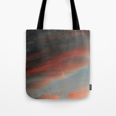 Moon and Sunset Tote Bag