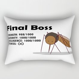 Final Boss - Black Letters Rectangular Pillow