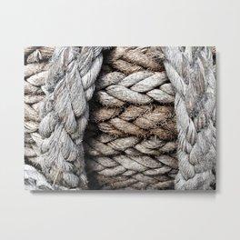 Maritime ropes, detail Metal Print