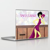 asian Laptop & iPad Skins featuring Asian Lounge by Alex Moreno