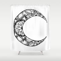 henna Shower Curtains featuring Henna Moon by Ava Elise