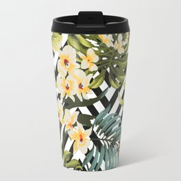 Flowered Chevron Travel Mug