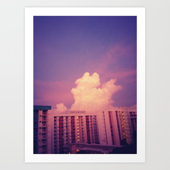The Evening Sky  Art Print