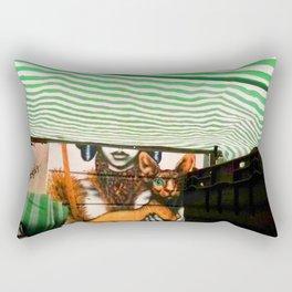 Market cat Rectangular Pillow