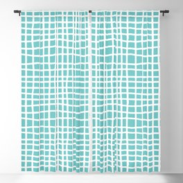 aqua ocean thread random cross hatch lines checker pattern Blackout Curtain