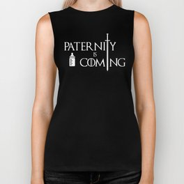 Paternity is Coming Gift For Dads Biker Tank