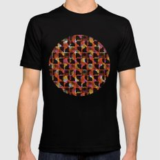 scribble (mixed) Black Mens Fitted Tee MEDIUM