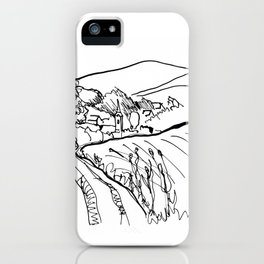 Little Village with Church iPhone Case