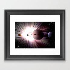 Large corona. Framed Art Print