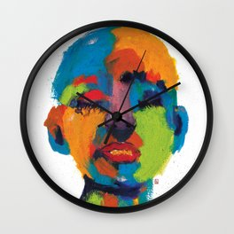 Stains 2 Wall Clock