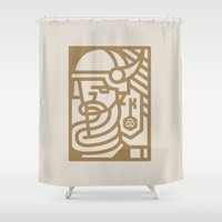 games Shower Curtains featuring Keymaster Games by TheColorK