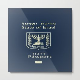 ISRAELI PASSPORT  Metal Print