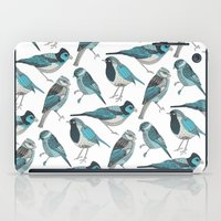 yetiland iPad Cases featuring pale green birds by Polkip