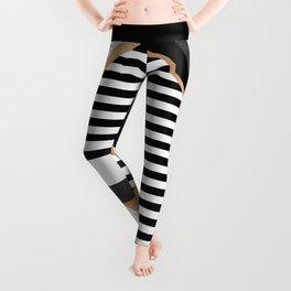 Stripe Combination Leggings