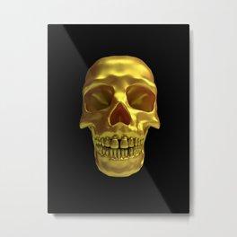 Gold Skull Metal Print