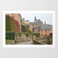 Luxembourg in Fall Art Print