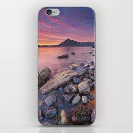 I - Spectacular sunset at the Elgol beach, Isle of Skye, Scotland iPhone Skin