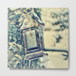 Frosted Drops Metal Print