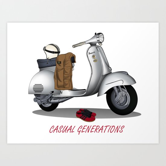 CASUAL GENERATION Art Print