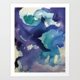 I dream in watercolor B Art Print