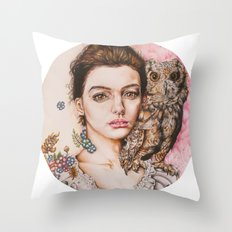 The most comfortable moment  By Davy Wong Throw Pillow